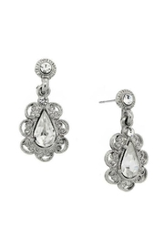 1928 Jewelry Drop Crystal Earrings - Front cropped