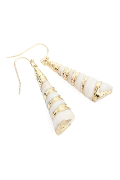 Riah Fashion Drop-Shell With Gold-Effect-Earrings - Alternate List Image
