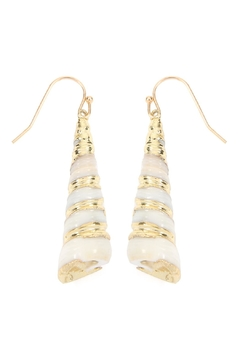 Riah Fashion Drop-Shell With Gold-Effect-Earrings - Product List Image