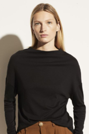 Vince Drop Shoulder Black - Product Mini Image