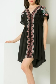 THML Clothing Drop-Shoulder Embroidery Dress - Product Mini Image