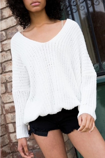 926f1ee127 POL Drop-Shoulder Knit Sweater from Chicago by Chic Boutique — Shoptiques