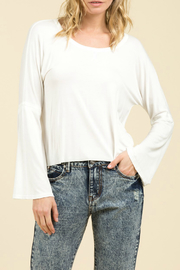POL Drop Shoulder L/S Bell Slv Top - Product Mini Image