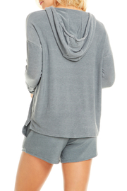 Chaser Drop Shoulder Lace-up Slv Cozy Pullover - Front full body