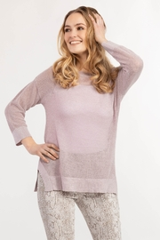 Tribal  Drop Shoulder Loose Knit Sweater - Front cropped