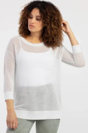 Tribal Drop Shoulder Loose Knit Sweater - Product Mini Image