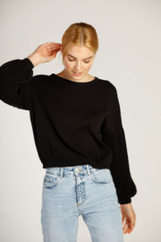 Moodie Drop Shoulder Ribbed Sweater - Product Mini Image