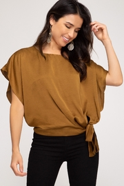 She + Sky Drop Shoulder Top - Product Mini Image