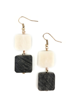 Anju Handcrafted Artisan Jewelry Drop Square Earrings - Alternate List Image