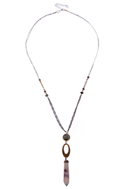 NAKAMOL CHICAGO Drop Stone necklace - Product Mini Image
