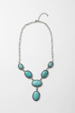 Leto Accessories  Droplet Turquoise Necklace - Alternate List Image
