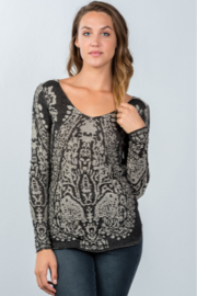 Tasha Apparel dropped shoulder boho sweater - Product Mini Image