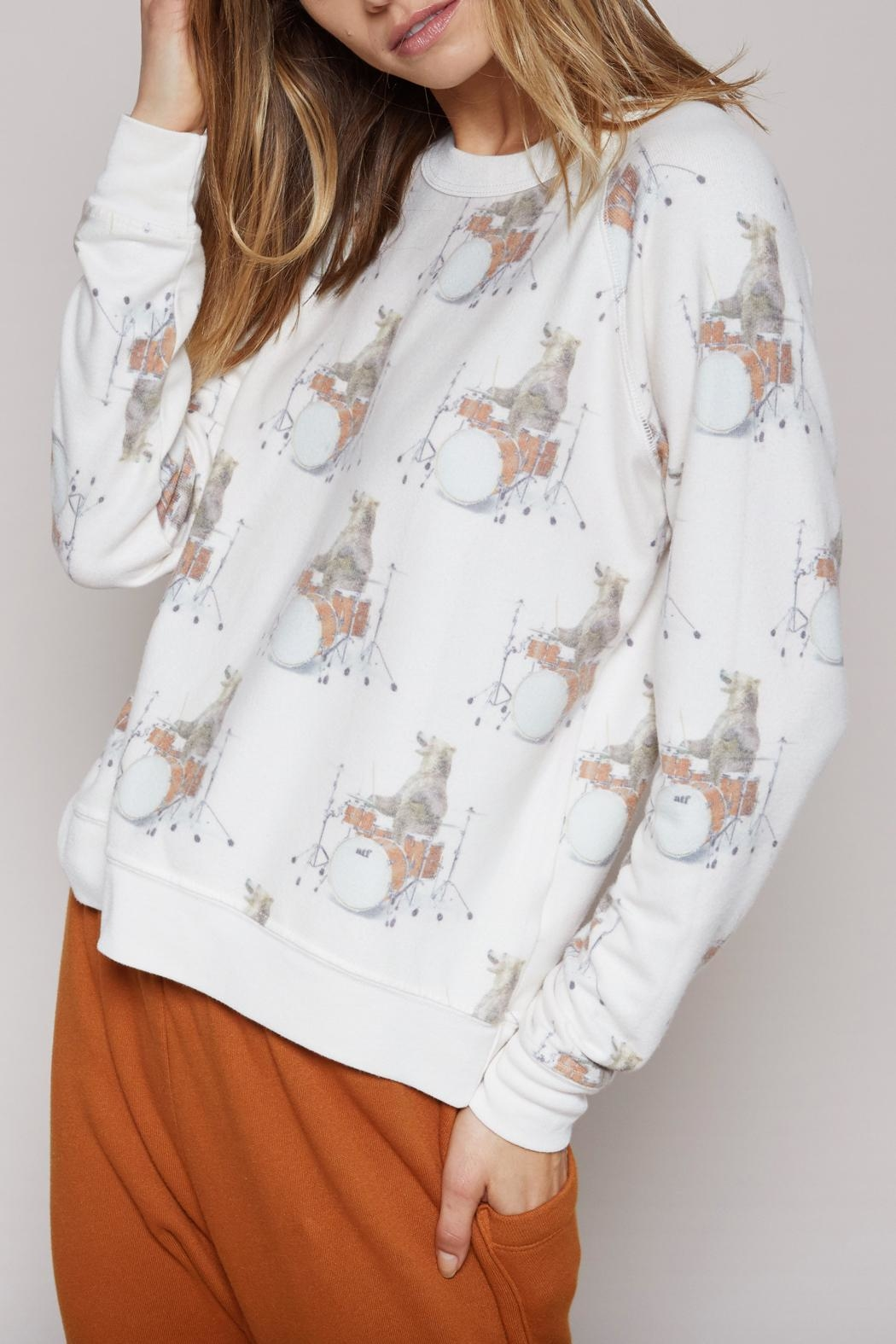 All Things Fabulous Drummer Bear Sweater - Side Cropped Image
