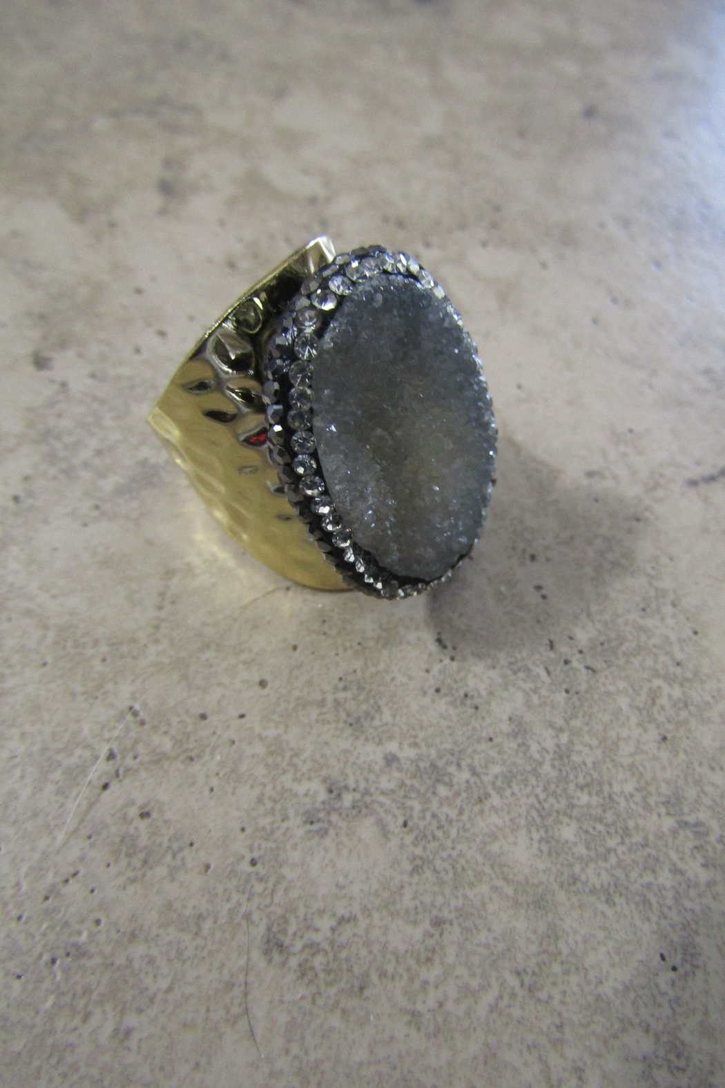 Ole DRUZY CRYSTAL CUFF RING - Front Full Image