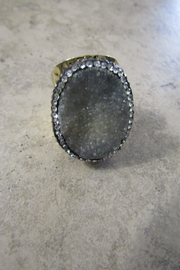 Ole DRUZY CRYSTAL CUFF RING - Product Mini Image