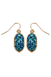 Riah Fashion Druzy-Crystal Oval-Earrings - Front cropped