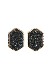 Riah Fashion Druzy-Hexagon Post-Earrings - Product Mini Image