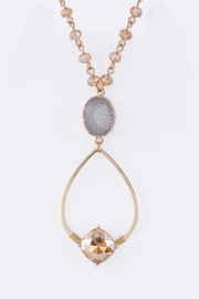 Nadya's Closet Druzy Mix-Crystal Necklace - Front cropped