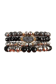 Riah Fashion Druzy-Mixed-Beads Bracelet-Set - Product Mini Image