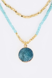 Nadya's Closet Druzy Pendant Necklace - Front cropped