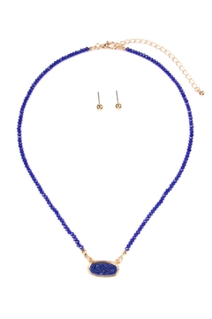 Shoptiques Product: Druzy-Quartz Crystal-Bead-Necklaces With-Stud-Earring