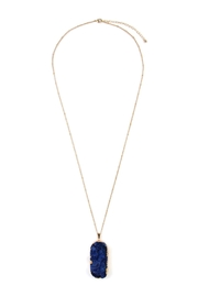 Riah Fashion Druzy Stone Necklace - Front cropped
