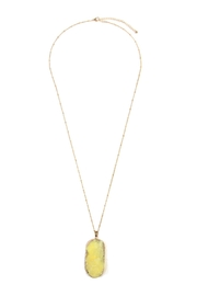 Riah Fashion Druzy Stone Necklace - Product Mini Image