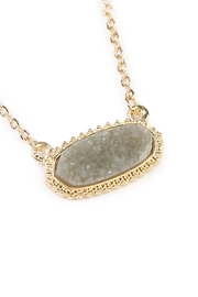 Riah Fashion Druzy Stone Necklace - Front full body