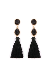 Riah Fashion Druzy-Tassel Statement Earrings - Product Mini Image