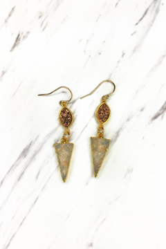 Shoptiques Product: Druzy w Pave Drop Earrings