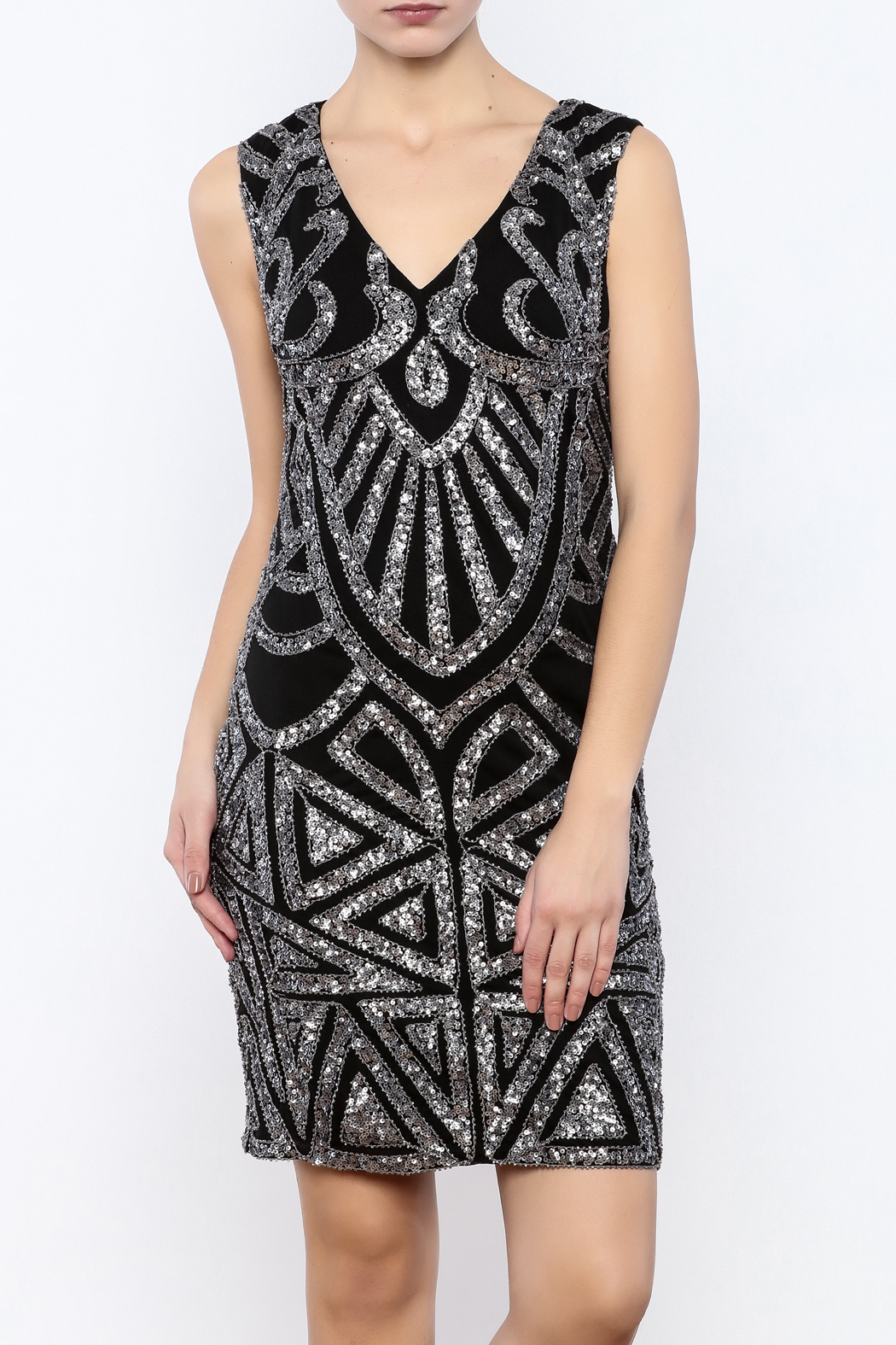 Dry Lake Sleeveless Sequin Dress - Front Cropped Image