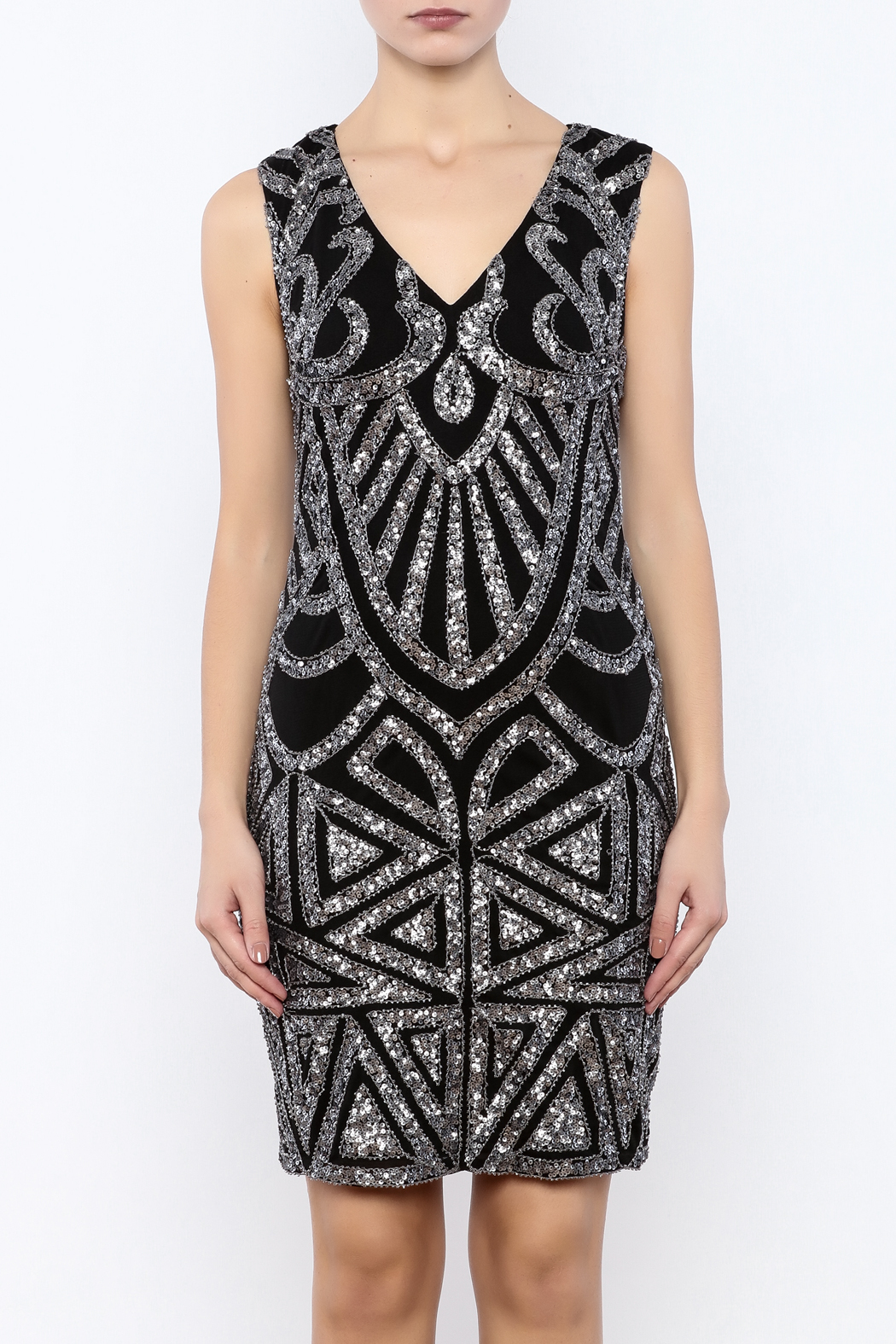 Dry Lake Sleeveless Sequin Dress - Side Cropped Image