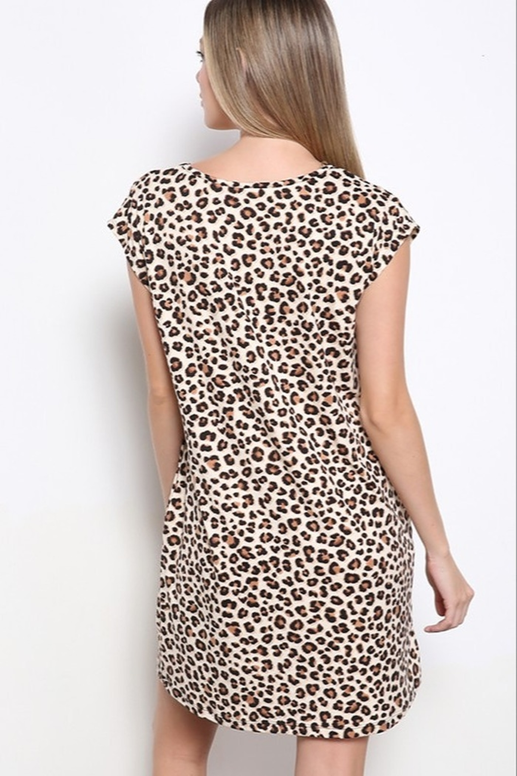 Mittoshop DTY BRUSHED ANIMAL PRINT MINI DRESS - Side Cropped Image