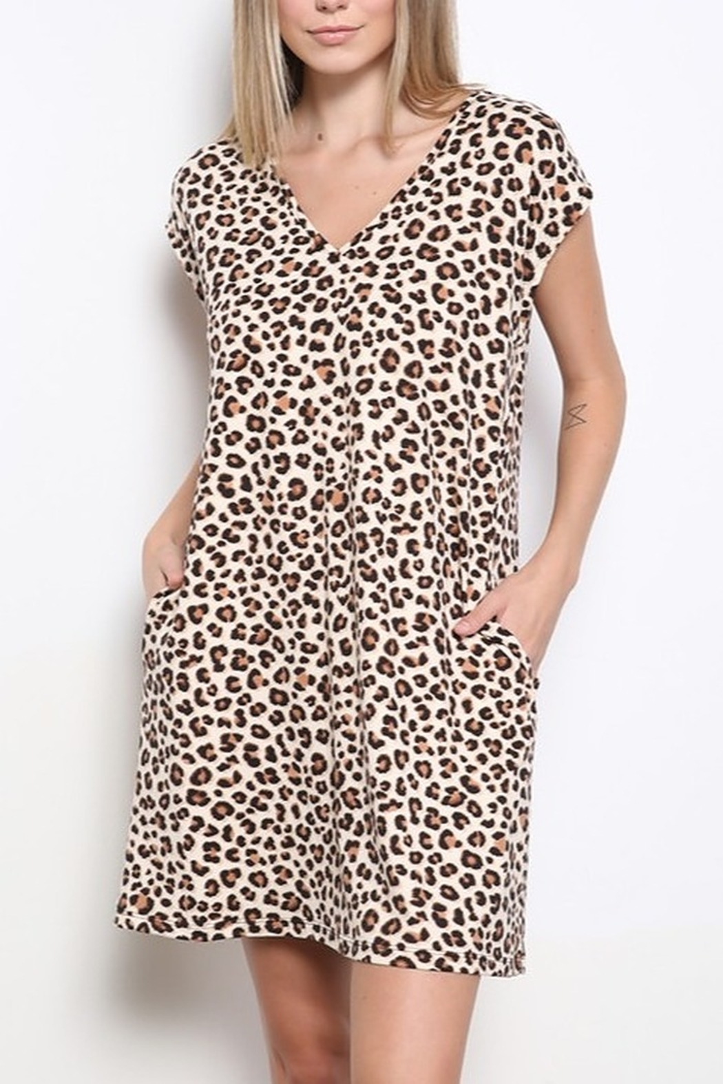 Mittoshop DTY BRUSHED ANIMAL PRINT MINI DRESS - Main Image