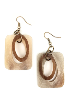 Anju Handcrafted Artisan Jewelry Dual Shape Earrings - Alternate List Image