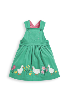 JoJo Maman Bebe Duck Applique Pinafore Dress - Product List Image