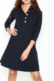 Duffield Lane Kingsley Henley Dress - Front cropped