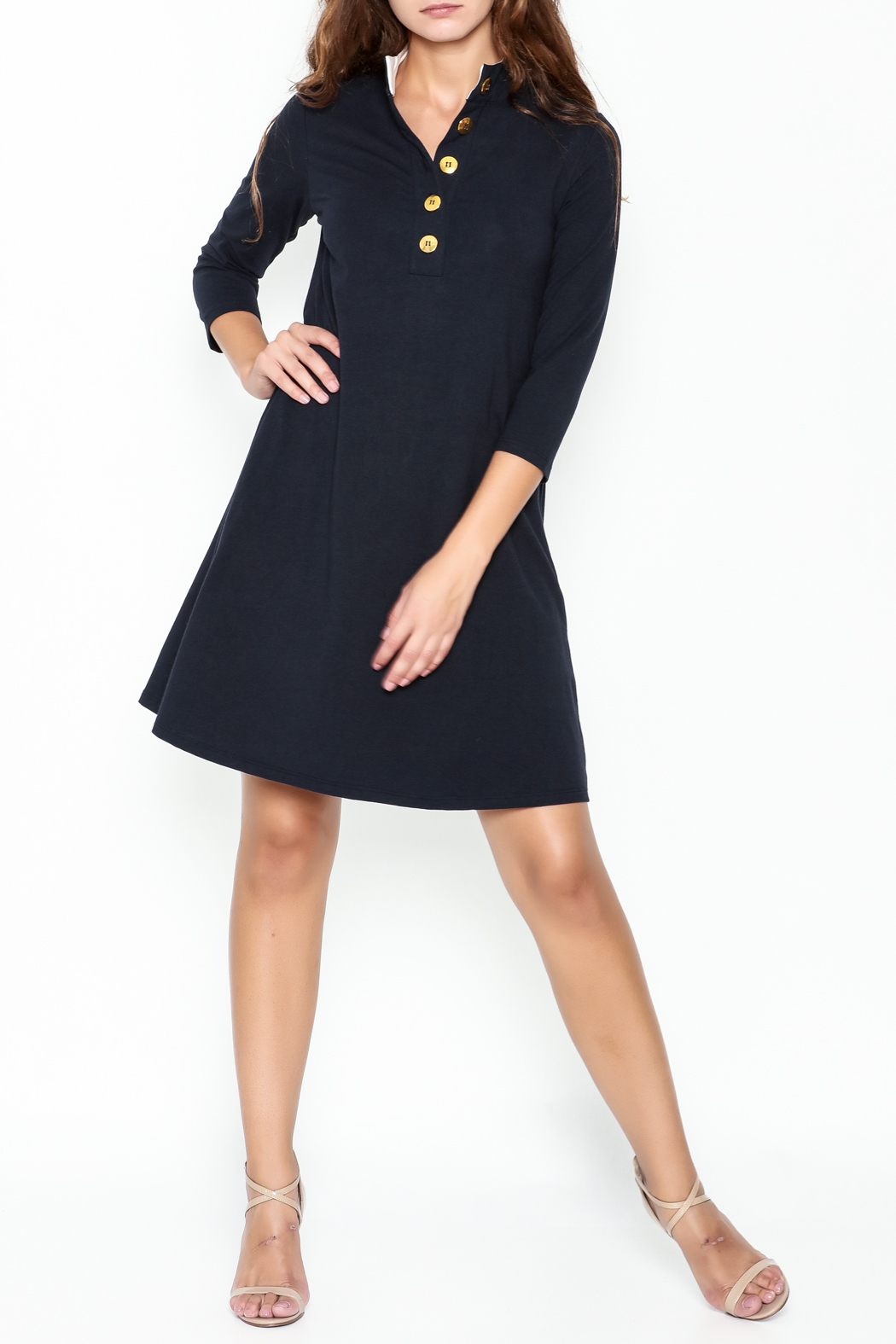 Duffield Lane Kingsley Henley Dress - Side Cropped Image