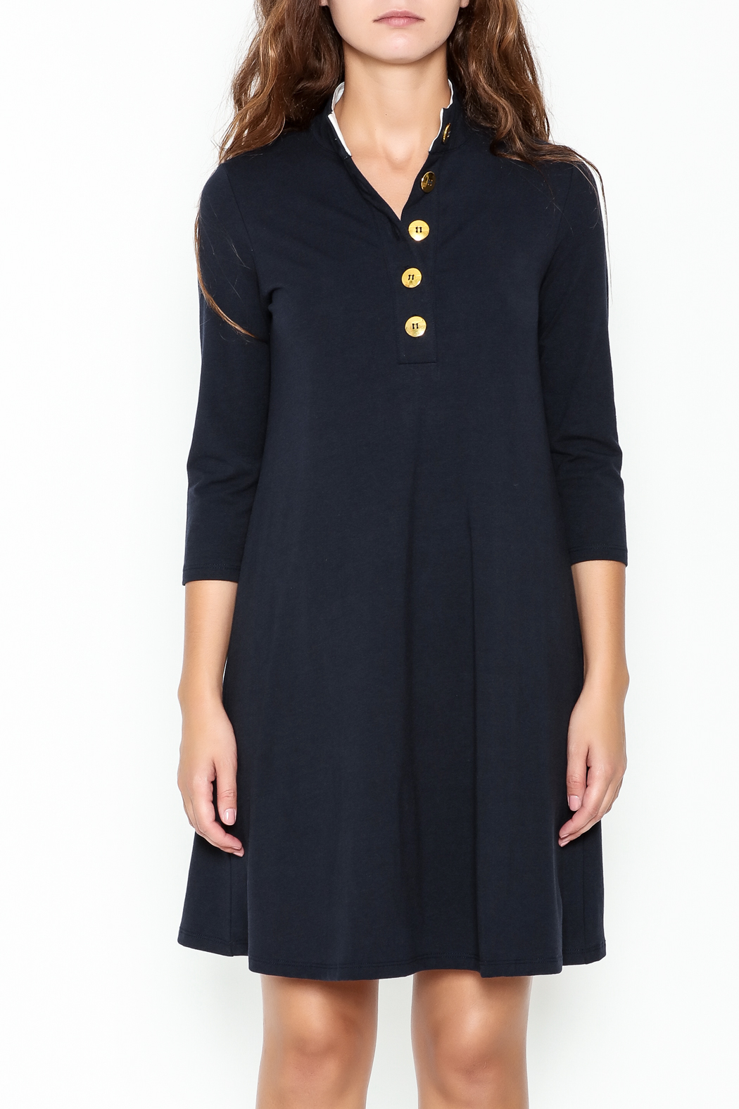 Duffield Lane Kingsley Henley Dress - Front Full Image