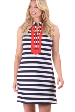 Duffield Lane Mackinac Dress -Navy/Red - Product List Image