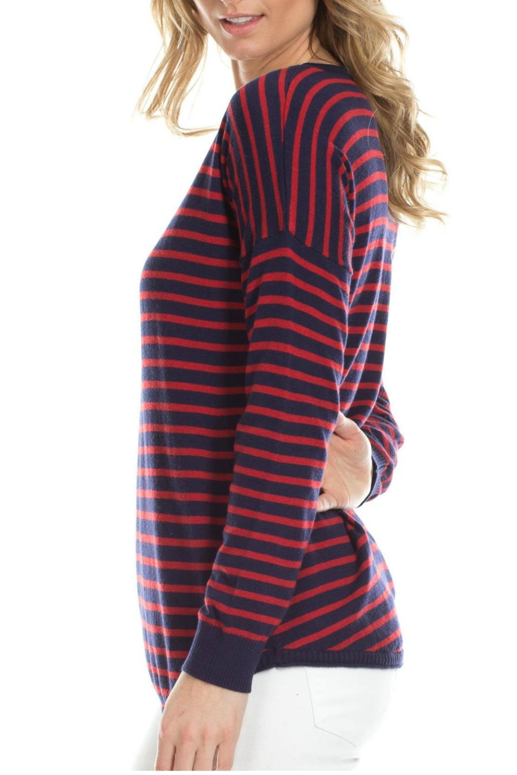 Duffield Lane Cashmere Blend Sweater - Side Cropped Image