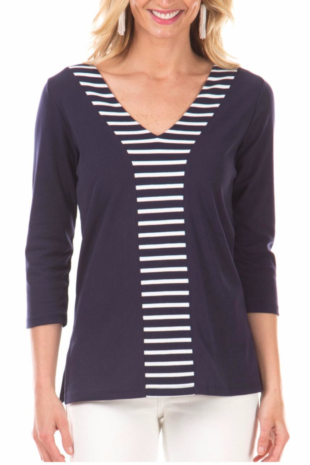 Duffield Lane Striped Accent Tunic - Main Image