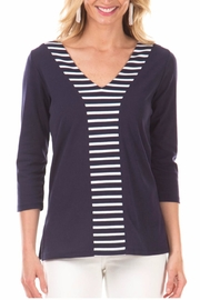 Duffield Lane Striped Accent Tunic - Product Mini Image