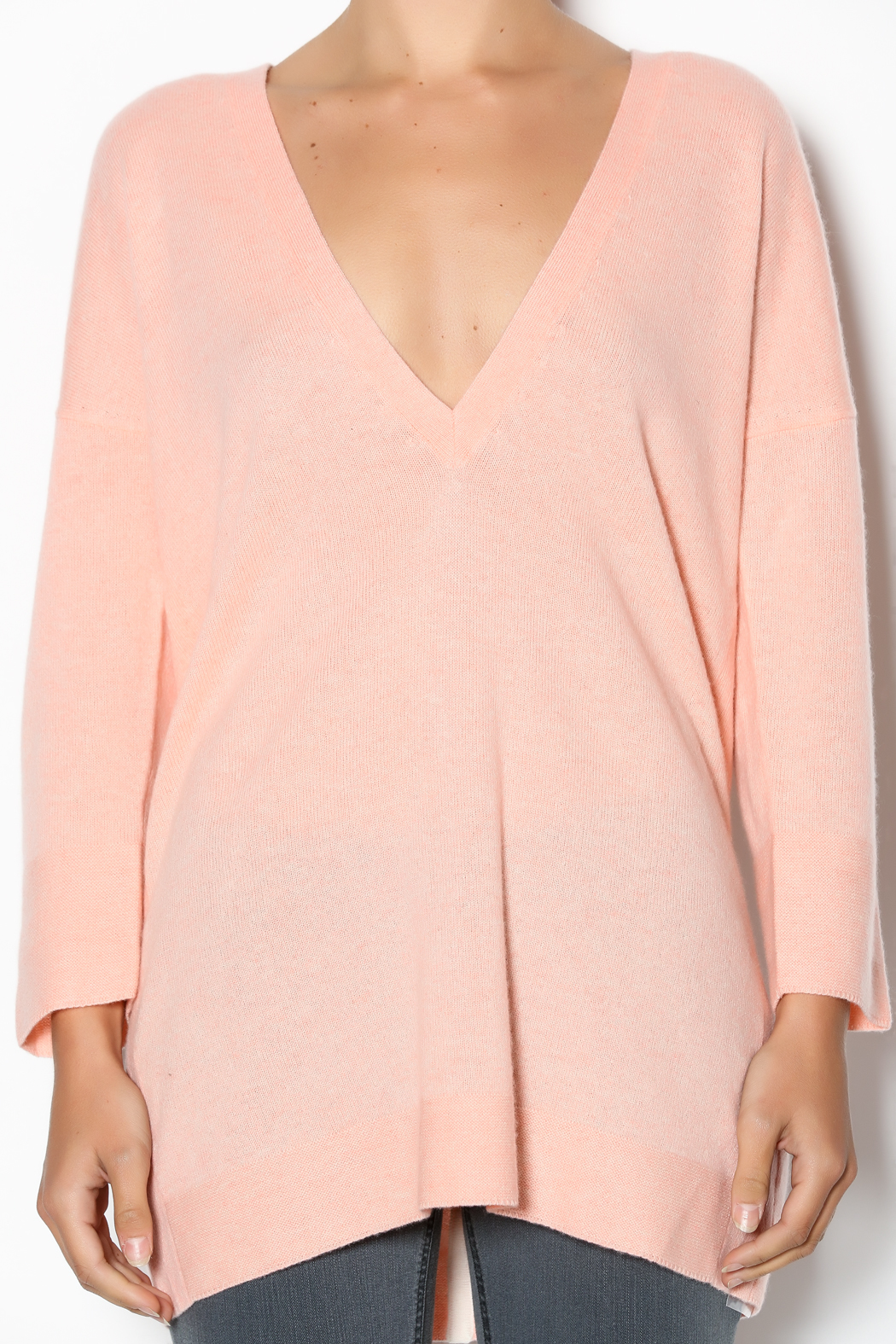 Duffy Peach Cashmere Sweater from Pennsylvania by Tish Boutique ...