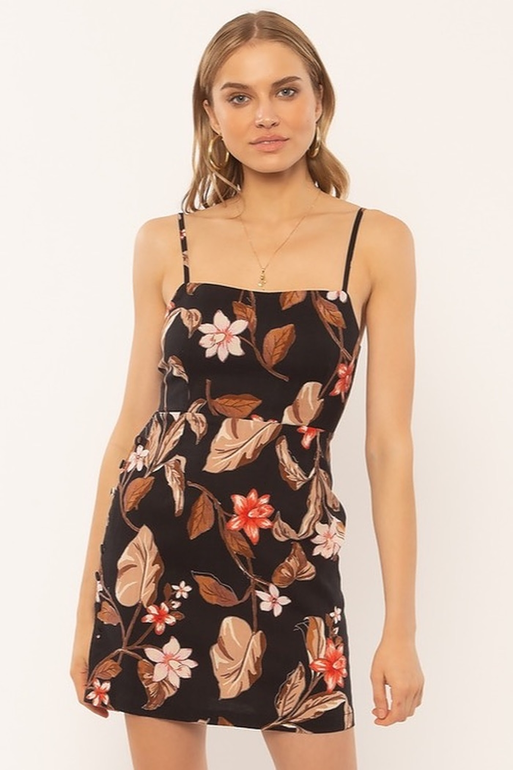 AMUSE SOCIETY Dulce Floral Dress - Side Cropped Image