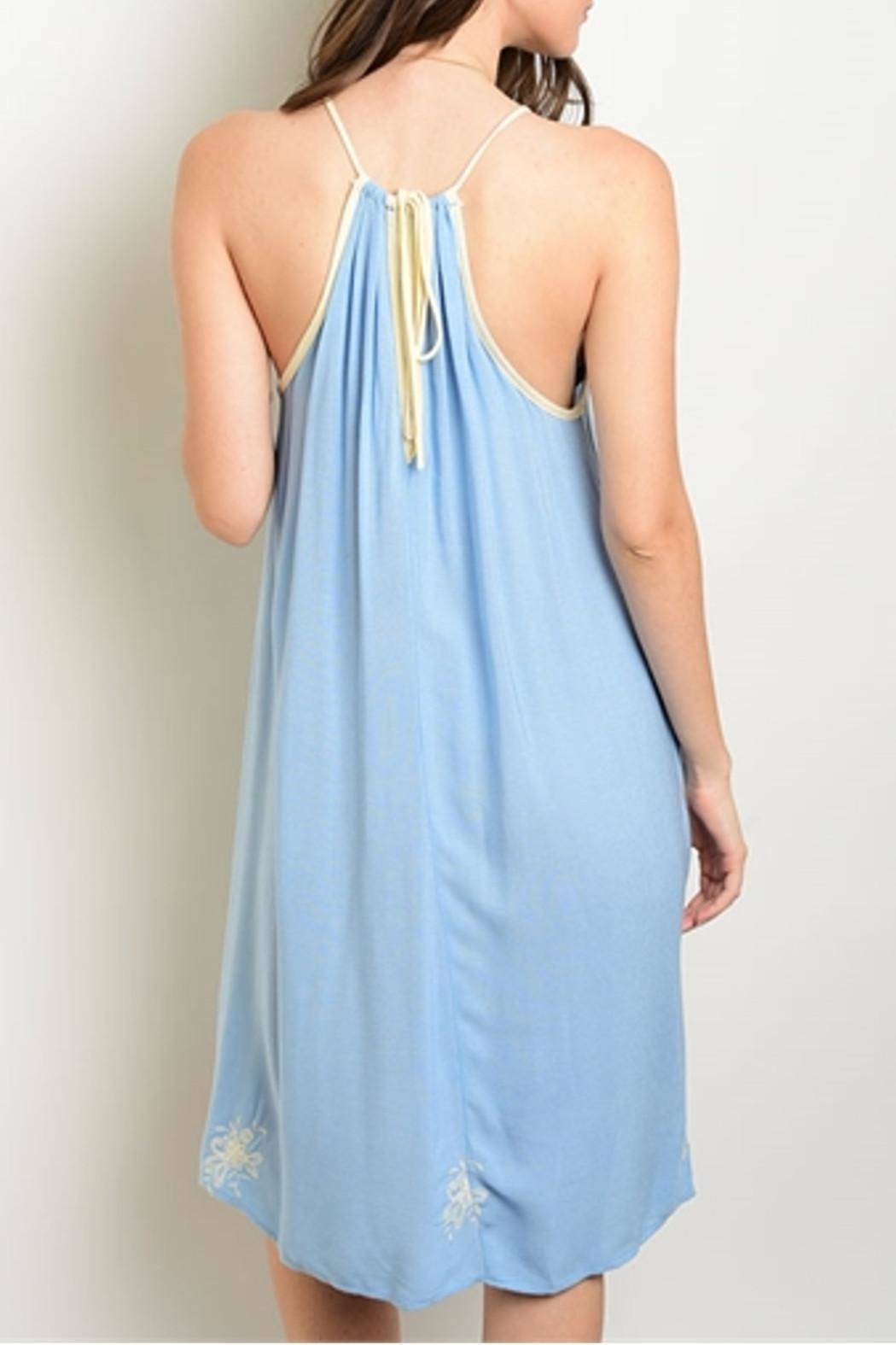 Dulce Carola Sky Blue Dress - Front Full Image