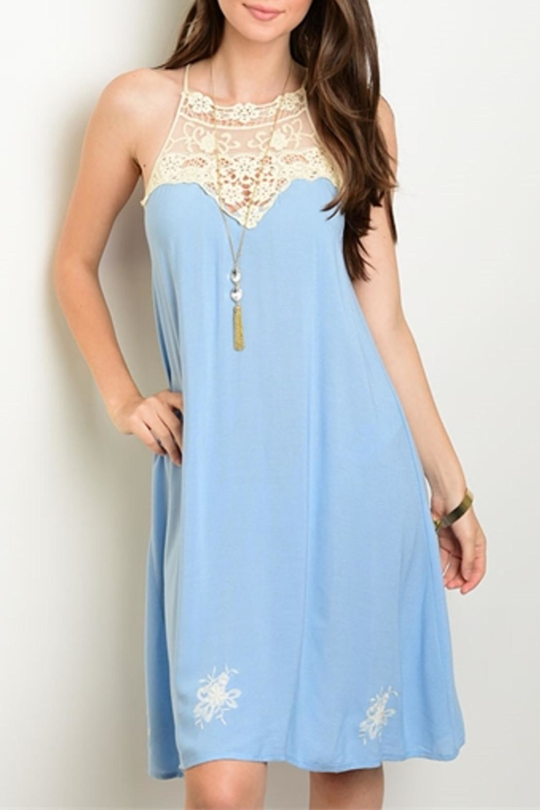 Dulce Carola Sky Blue Dress - Main Image
