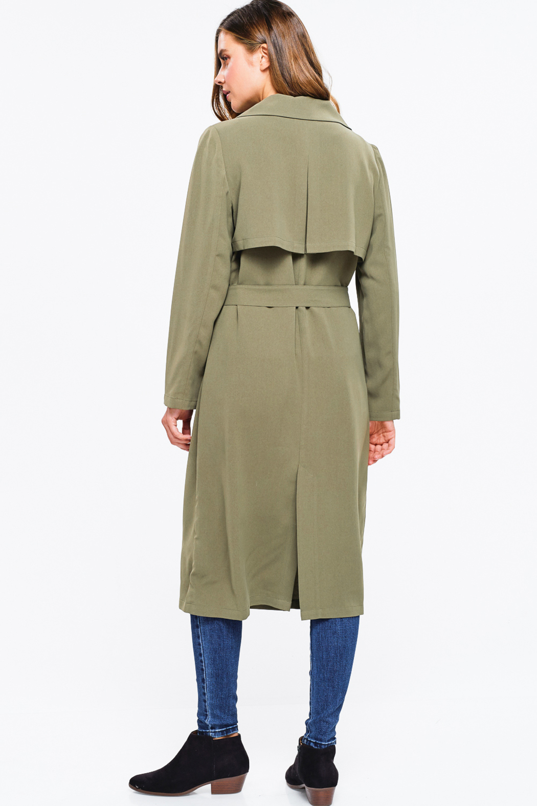 MONTREZ DUSTER TRENCH COAT - Side Cropped Image