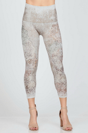 M-Rena  Dusty Arabesque Sublimation Print Legging - Product Mini Image