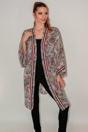 Meet me in Miami  DUSTY BEIGE PAISLEY 3/4 KIMONO - Product Mini Image